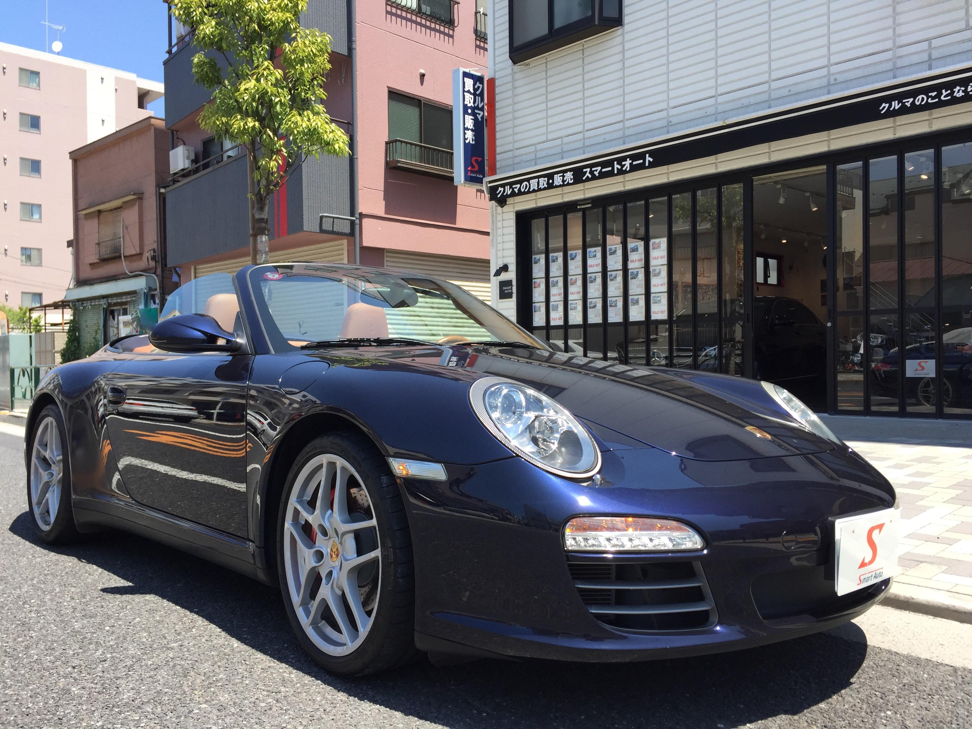 外車・輸入車のお買取ならスマートオートへ!在庫車に< ポルシェ 911 カレラ4S カブリオレ >が、追加になりました。