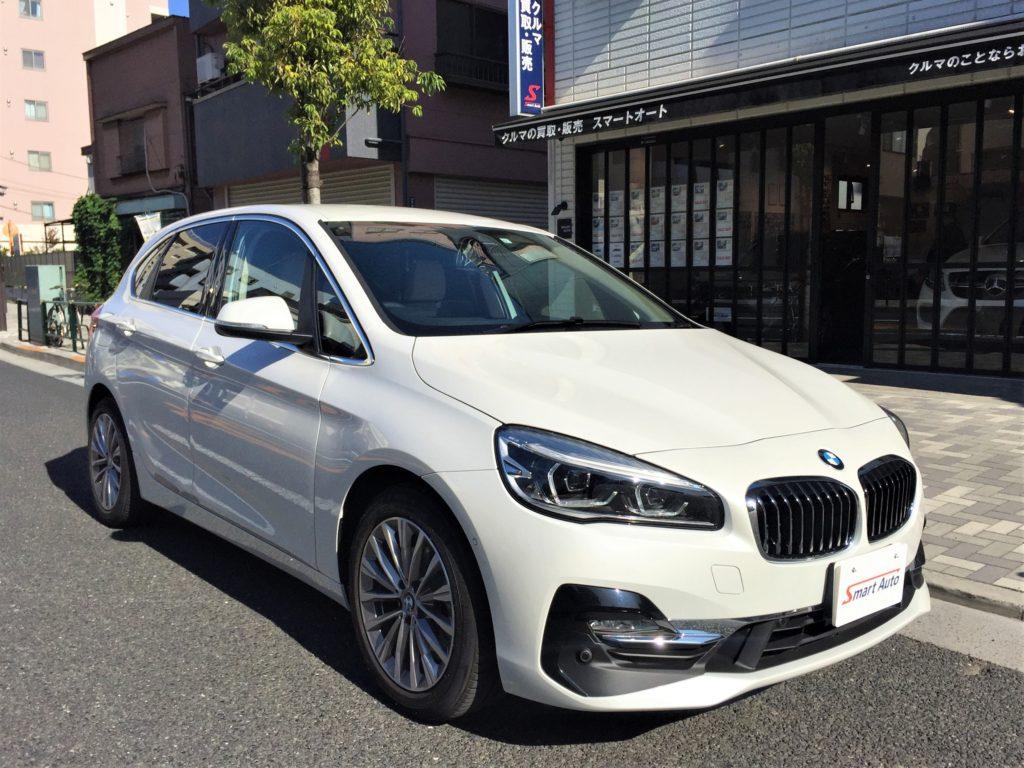 2019年式 BMW 218d アクティブツアラー ラグジュアリー をお買取させて頂き、弊社販売車に追加しました。