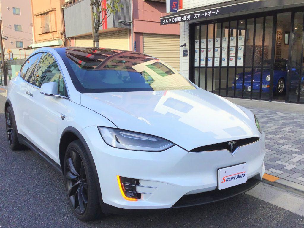 2019年式 テスラ モデルX ロングレンジ をお買取させて頂き、販売車に追加しました。