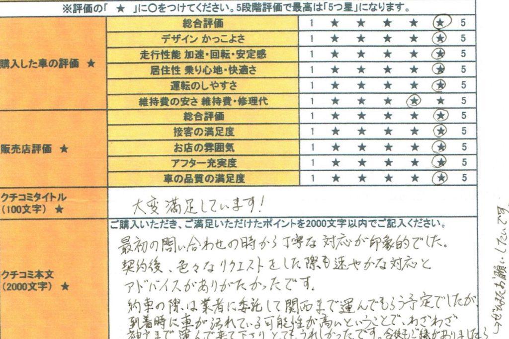 2017年式 ポルシェ 718ボクスター 2.0PDK をご購入の兵庫県・K様よりご感想/クチコミを頂きました。