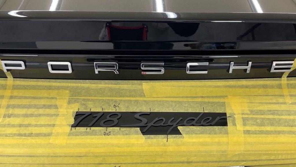 ポルシェ 718 スパイダー の車体全面にプロテクションフィルムの施工しました