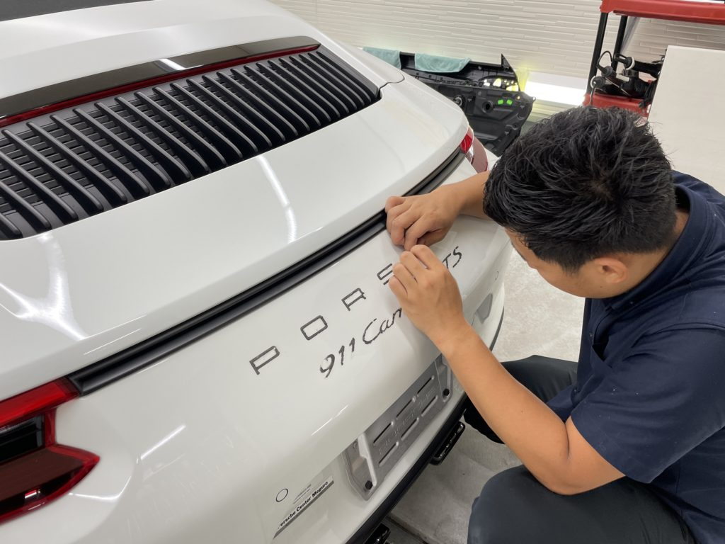 ポルシェ 911 Carrera GTS の車体全面にプロテクションフィルムの施工&ホィールCo.を実施しました
